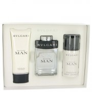 Bvlgari Man EDT Spray 3.4oz / 100.55mL + After Shave Balm 3.4oz / 100.55mL + Deodorant Spray 3.4oz / 100.55mL Gift Set 502578