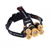Lanterna De Cap MRG 5 x Led ZOOM Frontala + 2x Acumulatori 18650