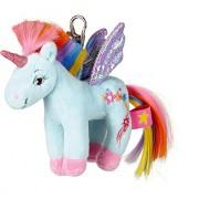 Die Spiegelburg 14667, Plush Keychain/Pendant Rainbow Unicorn - Children the Unicorns Paradise About 10 Cm