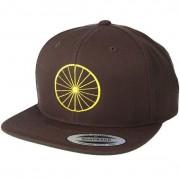 Bike Souls Keps Wheel Brown/Yellow Snapback - Bike Souls - Brun Snapback