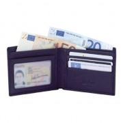 Merkloos Luxe zwarte leren portemonnee voor heren