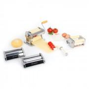 Klarstein Siena Argentea Pasta Maker Nudelmaschine 3 Aufsätze Edelstahl silber