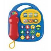 Telefon de jucarie cu sunete si lumini pentru copii ABC 6 -12 luni