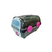 Caixa de Transporte Para Cachorro - Furacão Pet - Luxo - Tamanho 2 - Black com Rosa