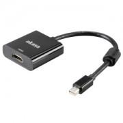 Cablu convertor activ Akasa de la Mini DisplayPort la HDMI 4k, AK-CBDP09-20BK