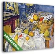 Paul Cézanne: Csendélet gyümölcskosárral (30x25 cm, Vászonkép )