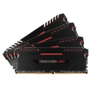 Memorie Corsair Vengeance LED 64GB (4x16GB) DDR4, 3200MHz, 1.35V, CL16, Dual Channel Quad Kit, Red LED, CMU64GX4M4C3200C16R