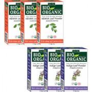 Indus Valley BIO Organic INDIGO + RED HENNA- Triple Pack Hair Coloring Kit