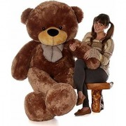 4 Feet Chocolate Teddy Bear Soft Teddy Toys Someone Special Gift- 121 cm (Chocolate)