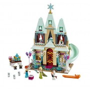 Frozen Elsa's Sparkling Ice Castle Doll House Building Block Lego Style Compatible Action Figures Play Set Toy for Kids