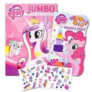 My Little Pony Book Set Toddlers Kids -- 2 Books (1 Deluxe Board Book, 1 Jumbo Coloring Book -- Featuring Twilight...