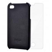 Protectie Spate Hoco TPLHSIPH, iPhone 4/4S + Bonus folie de protectie display (Negru)