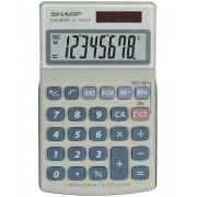 Calculator de buzunar, 8 digits, 116 x 71 x 17 mm, SHARP EL-240SAB - gri