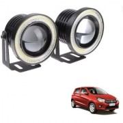 Auto Addict 3.5 High Power Led Projector Fog Light Cob with White Angel Eye Ring 15W Set of 2 For Maruti Suzuki Celerio