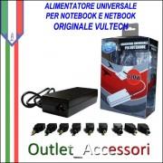 Alimentatore Caricabatterie Universale Notebook Acer Asus Samsung Sony Autosettante