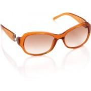 Harley Davidson Rectangular Sunglasses(Brown)