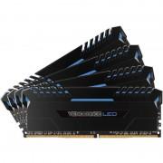 Memorie Corsair Vengeance LED Blue 32GB DDR4 3000 MHz CL15 Quad Channel Kit