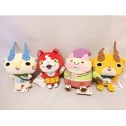 "Banpresto 6"" Yo-kai Yokai Watch Cute Hanami Plush Set of 4"