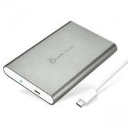 ЧЕКМЕДЖЕ ЗА ДИСК J5CREATE JEE253 ТИП USB-C 3.1 ЗА 2.5 HDD SATA3 TYPE-C, СИВ, J5-JEE253