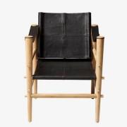 Cinas Noble leather loungestol - Svart