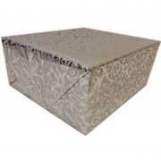 Shoppartners Inpakpapier/cadeaupapier zilver klassiek design 150 x 70 cm