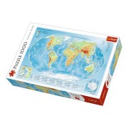 Puzzle Trefl - Physical Map of the World, 1.000 piese (61515)