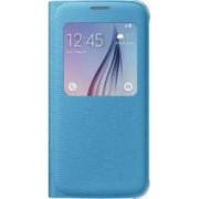 Husa Flip S-View Fabric Samsung Galaxy S6 G920 Blue