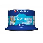 "CD-R VERBATIM 700 MB, 80 min, viteza 52x, spindle, printabil, ""AZO Wide Inkjet Printable"", 50 buc/set"