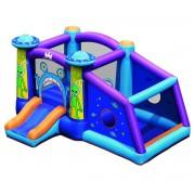 Costway Castillo Hinchable con Tobogán de Agua y Área para Saltar y Jugar Multicolor 331 x 258 x 178 cm (Sin Compresor)
