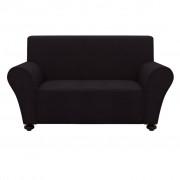 vidaXL Elastyczny pokrowiec na kanapę, czarny