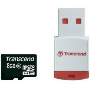 Transcend 8GB micro SDHC (with reader - Class 10) - TS8GUSDHC10-P3