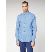 Ben Sherman Script Long Sleeve Gingham Shirt XL Blue