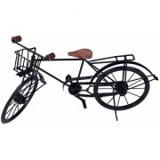 BuzyKart Wrought Iron Model Cycle Miniature With Basket On Handle