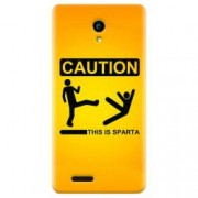 Husa silicon pentru Allview P6 Life This Is Sparta Funny Illustration