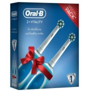 Periuta electrica Oral B Vitality Cross Action x 2 (Alb/Albastru)