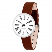 Arne Jacobsen Clocks Armbandsur Roman Vit/brun 30 mm Arne Jacobsen Clocks
