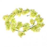 2M Sakura Hanging Vines Artificial Flower Bush Wedding Decoration Flowers Supplies (Green)