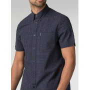 Ben Sherman Main Line Short Sleeve Core Gingham Shirt Sml Phantom