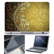 FineArts Laptop Skin Abstract Series 1080 With Screen Guard and Key Protector - Size 15.6 inch