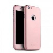 Husa FullBody IPAKY Originala Rose-Gold pt Apple Iphone 6 Plus / 6S Plus acoperire completa 360 grade cu folie de protectie gratis