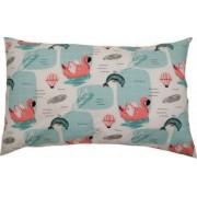 Perna decorativa dimensiune 40 x 65 cm model flamingo culoare alb/verde