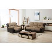 Montana Jumbo Cord Reclining Full Sofa Set - Brown or Grey - Brown 3R+2R
