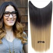 Flip in vlasy - 55 cm dlouhý pás vlasů - odstín 2 T 16 - Světové Zboží
