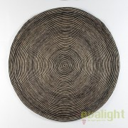Covor rotund din iuta, realizat manual, DOON 200cm, alb/ negru 80922/00 TN