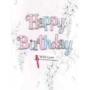 grote verjaardagskaart A4 - happy birthday with love