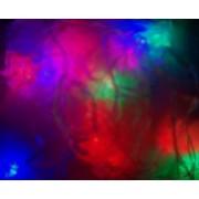 Instalatie Craciun Sir Forme Braduti 20 LED-uri Multicolore Cablu Transparent 4 metri