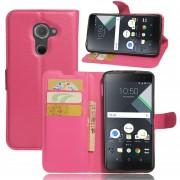 Premium PU Leather Wallet Case con bolsillos para la identificación, tarjetas de crédito para BlackBerry DTEK60 -Rojo