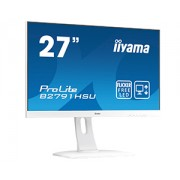 iiyama 27' WHITE, ETE TN Panel, 1920x1080, 1ms, Height Adj. Stand (13cm), 300cd/m², Speakers, VGA, HDMI, DisplayPort, USB-HUB