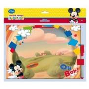 Set tabla + marker cu burete Mickey Mouse
