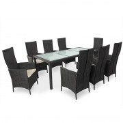 Zestaw Mebli Ogrodowych Stół Krzesła Tapicerowane